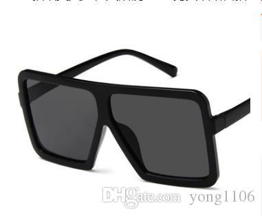 Nuevas tendencias europeas y americanas. Caja grande. Gafas de sol. Hombres y mujeres. Gafas de sol con personalidad. Red de gafas de sol.