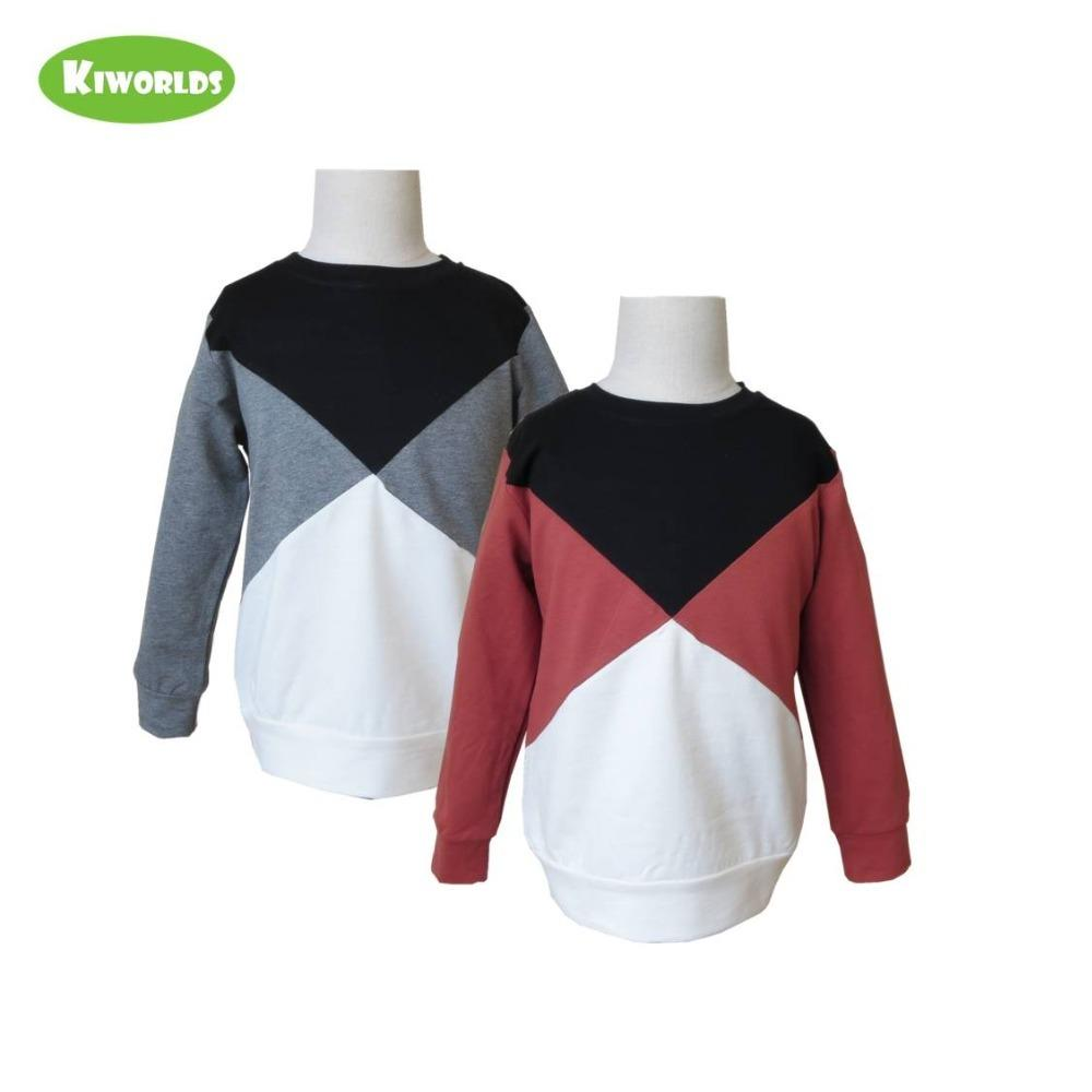 Yeni bahar sonbahar pamuklu uzun kollu erkek Tişörtler, Çocuk Üst Giyim 2-8 yıl T200104 Casual Giyim Çocuk Kazak Top patchwork