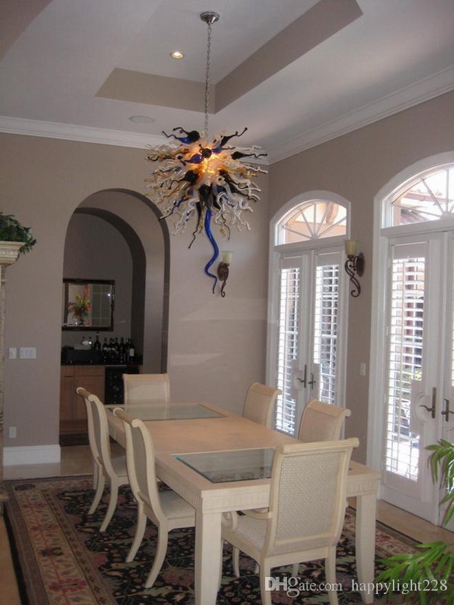 100% Handarbeit Blown Murano Glaskunst-Leuchter energiesparende LED-Lampen Wohnzimmer Art Deco Deckenleuchten