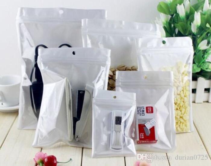 Лучшее качество Clear + белого жемчуг Пластикового Poly OPP упаковка розничных пакетов ювелирных изделия пищевого ПВХ пластикового пакет много имеющегося размера