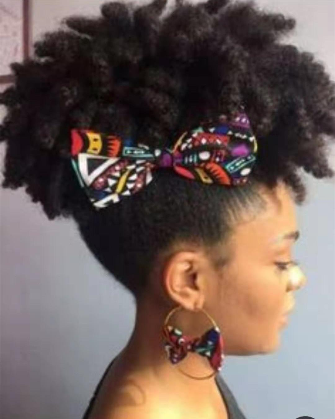Afro puff Kinky Curly Ponytail Hairpiece Clip ins human Ponytails Extensions drawstring ponytail short high pony hair 120G