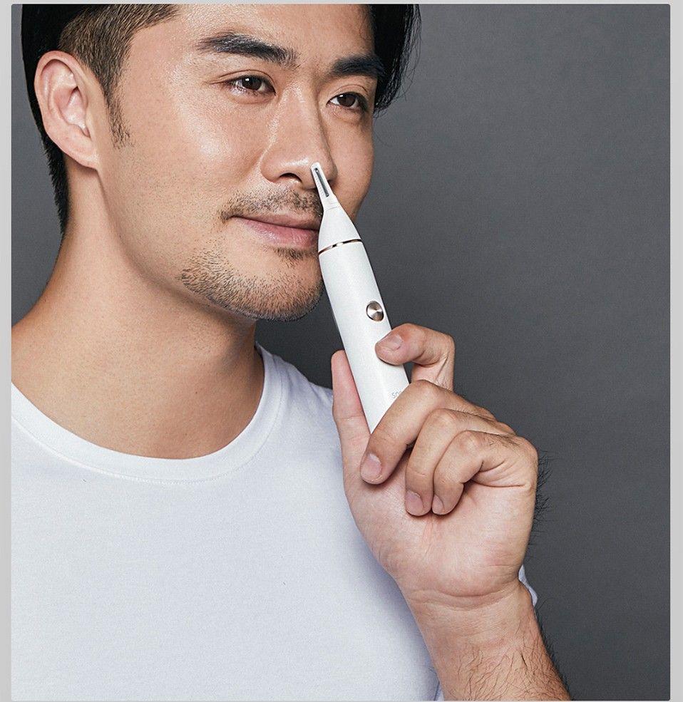 Original para Xiaomi Mijia Soocas IPX5 À Prova D 'Água Nose Hair Trimmer Sobrancelha Clipper Sharp lâmina sem fio Nasal Cleaner para homens mulheres