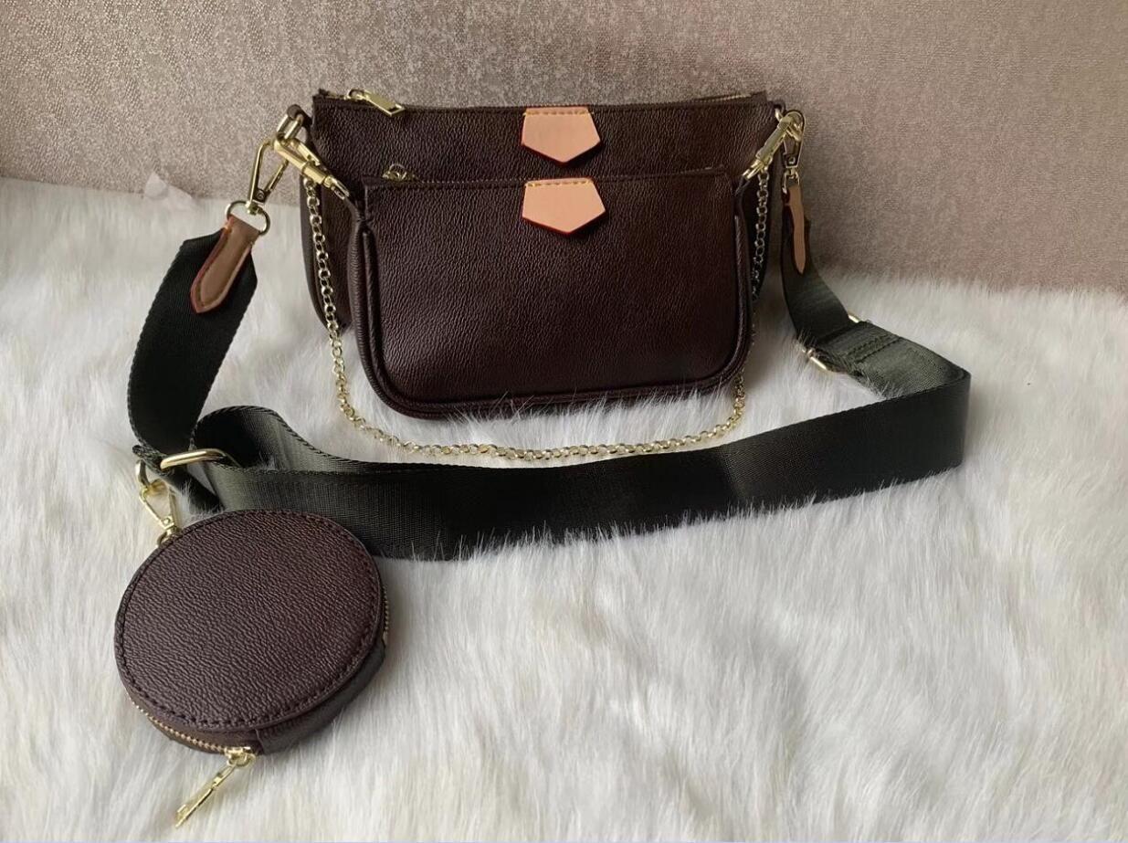 Lo nuevo 3 sistemas / piece Los bolsos de moda Bolsas de hombro mujeres del diseñador de alta calidad bolso de la marca Tamaño 24 * 13 * 4.5cm Modelo 68118