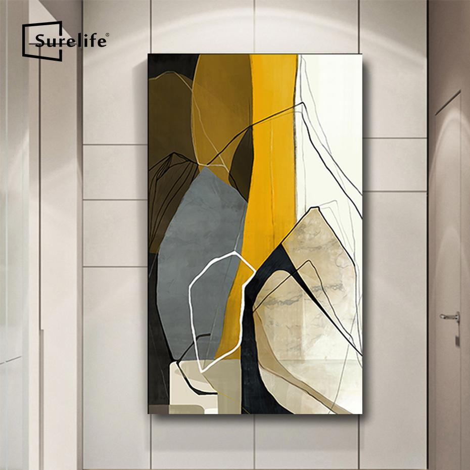 Abstract Long Canvas Painting Wooden Stretcher Bars DIY Solid Photo Frames for Painting Poster Print Wall Art Picture Home Decor
