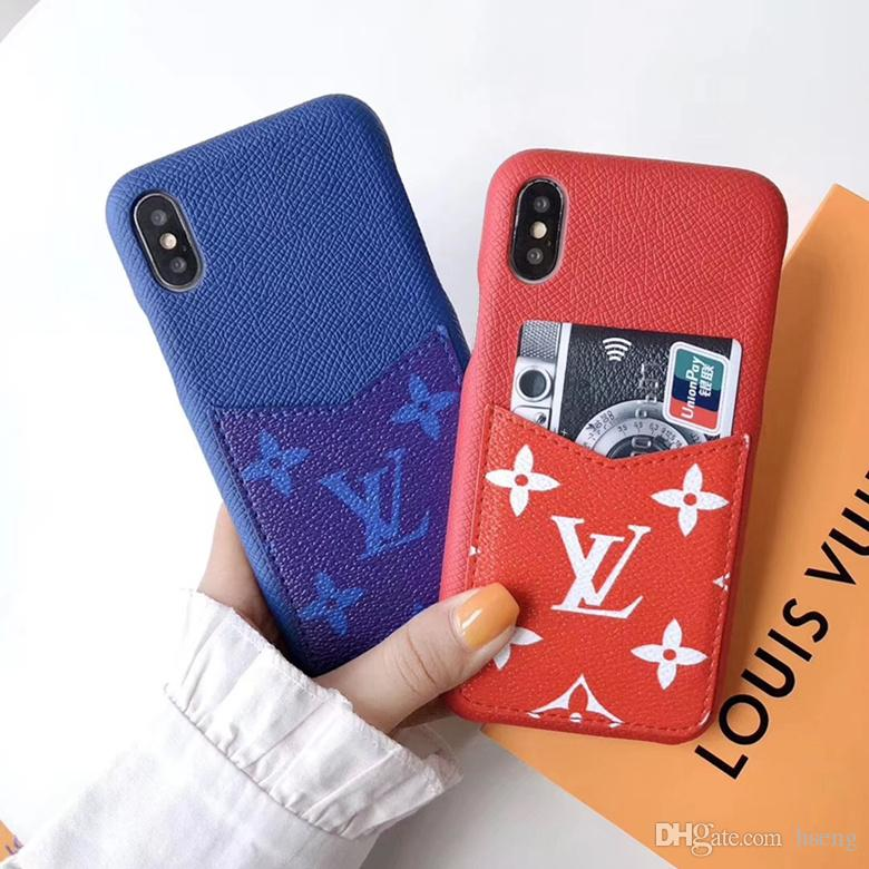Vegan Leather Wallet Back Case Plaid Print Card Slot Holster Phone Cover Checkerboard Pattern for iPhone 11 Pro Max XR X 7 Plus