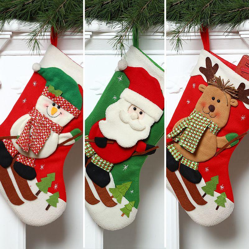 Adornos de Navidad Calcetines de Navidad Bolsa de regalo grande pin li Candy Bag wa Cx14060
