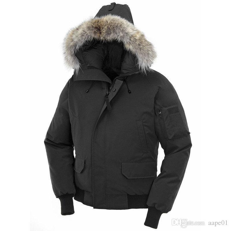 Winterjacke Fourrure unten Parka Homme Putin Chaquetas Oberbekleidung Big Pelz Kapuze Fourrure Manteau Kanada Daunenjacke Mantel-Größe XS-XXL