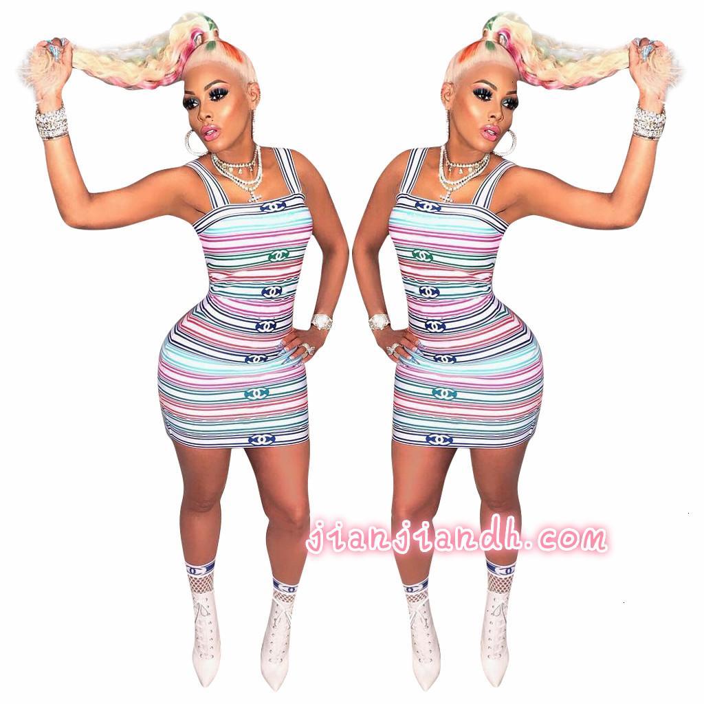 3785 verano nuevos productos transfronterizos Europa y América del comercio exterior la impresión chaleco discoteca vestido de falda de las mujeres A22A23