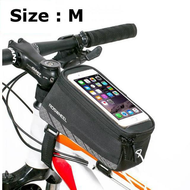 Mountain Bike Bicycle Touch Screen Front Handlebar Bag Phone Holder Crossbody Go