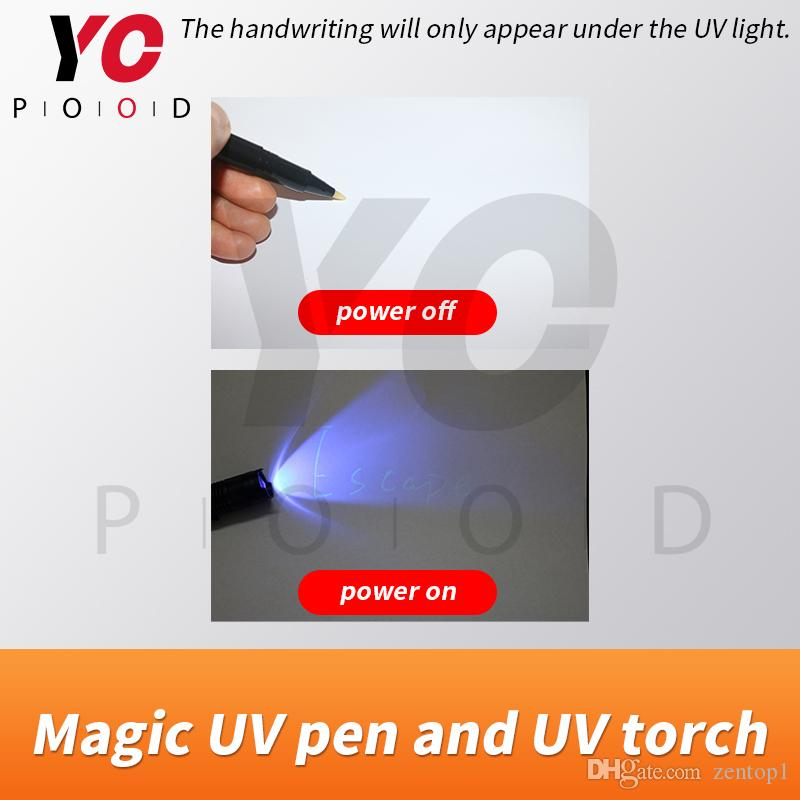 Escape room game prop magic UV pen and UV torch adventurer game puzzle pen real life takagism from YOPOOD