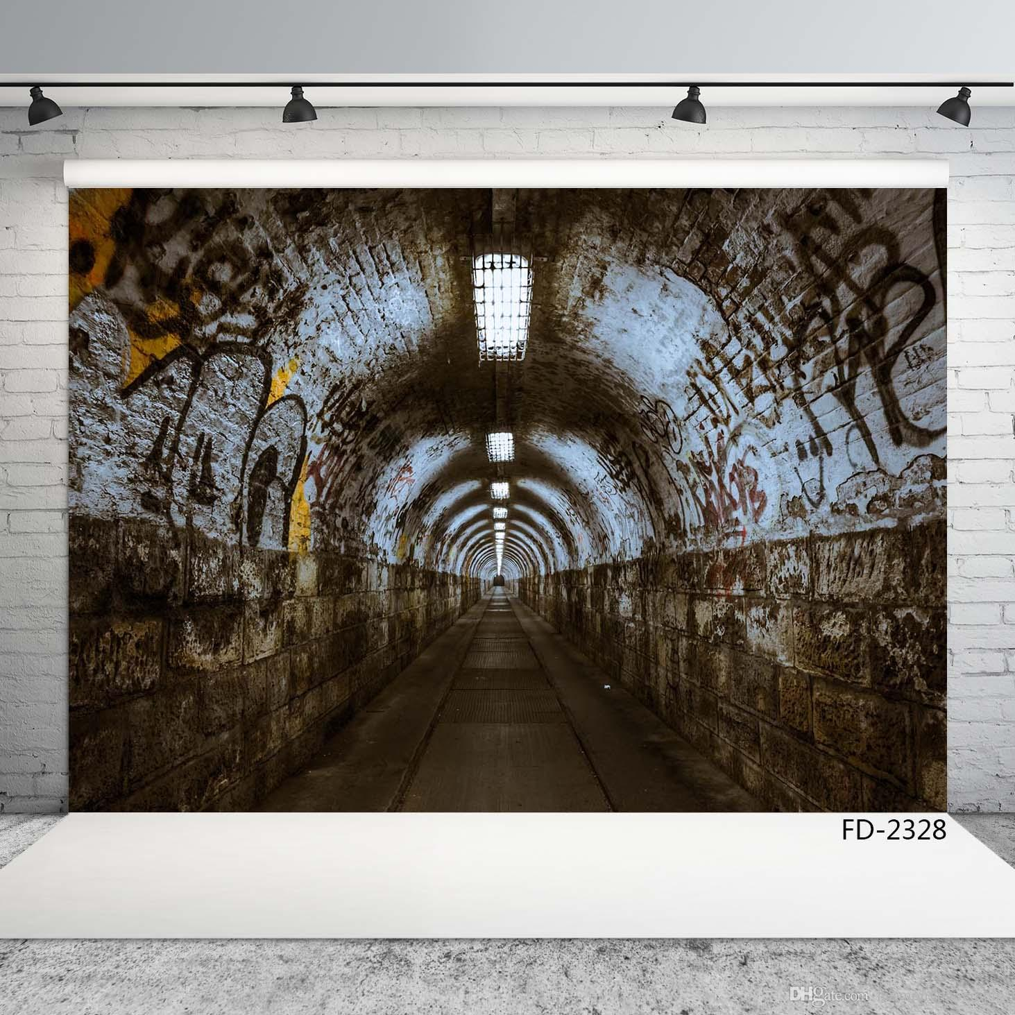 photographic backdrop vintage vintage graffiti tunnel backdrop for photo shoot 7X5ft vinyl cloth backdrops for photo studio camera photo