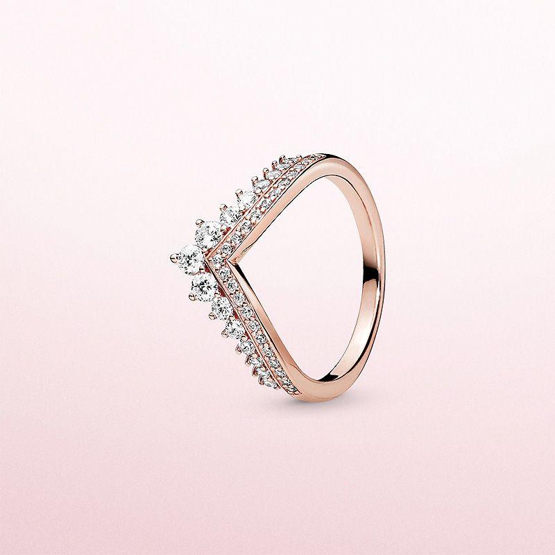 Qualitäts-Art- und CZ-Diamant-Ring für Pandora Sterlingsilber 925 Rose Gold überzogen Frauen Ehering Original-Box Set