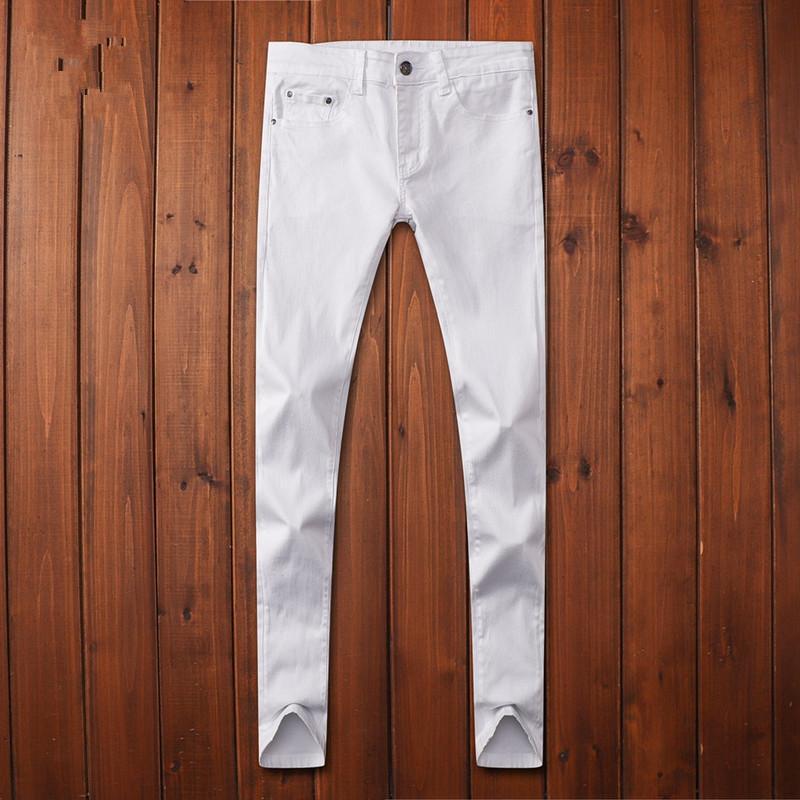 Nouvelle arrivée Mode Hommes Casual Skinny Stretch Jeans Distressed Ripped Jeans Slim Fit Pantalons Skateboard Marque Homme Denim Pantalons 6S