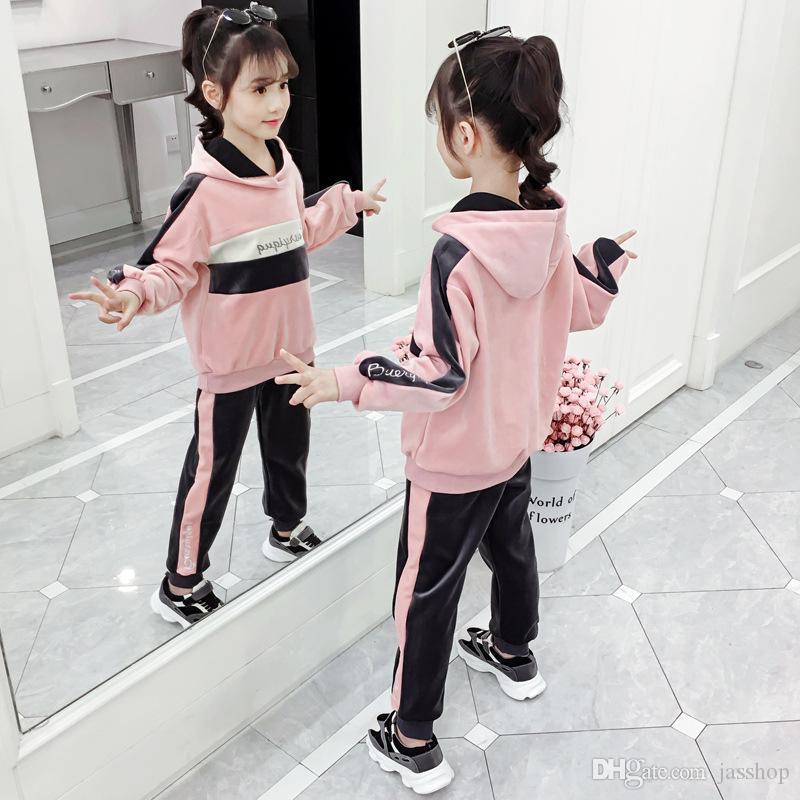 Girls/' sweater dress new autumn winter wear children/'s thick cartoon hooded