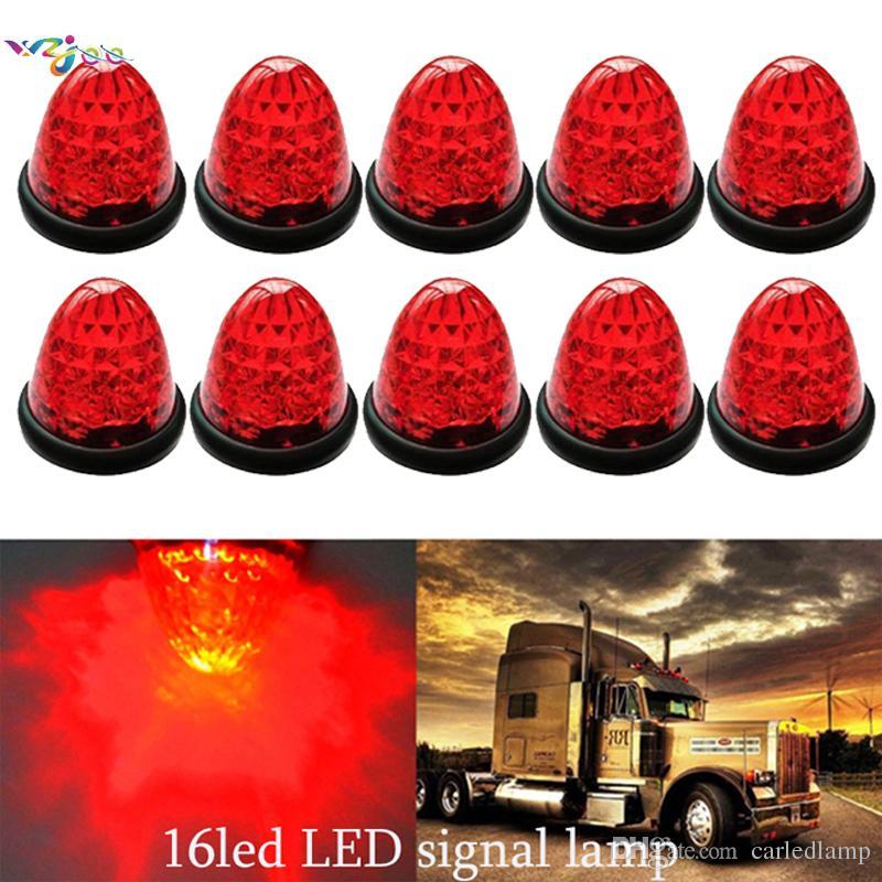 10pcs NEW 12V 24V LED Red signal light Side Marker Light Trailer Truck Lorry Caravan Lamp