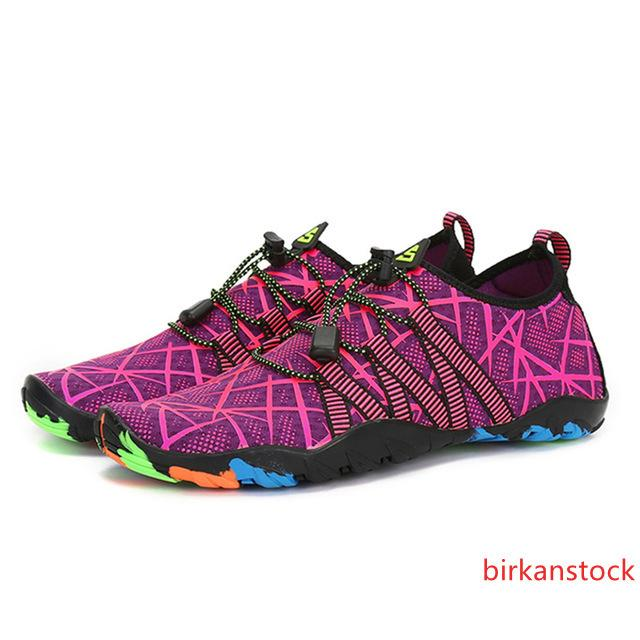 negro de la aguamarina Zapatillas de verano mujer de los hombres transpirable zapatillas de deporte de adultos playa Zapatillas Upstream Piscina calcetines de buceo