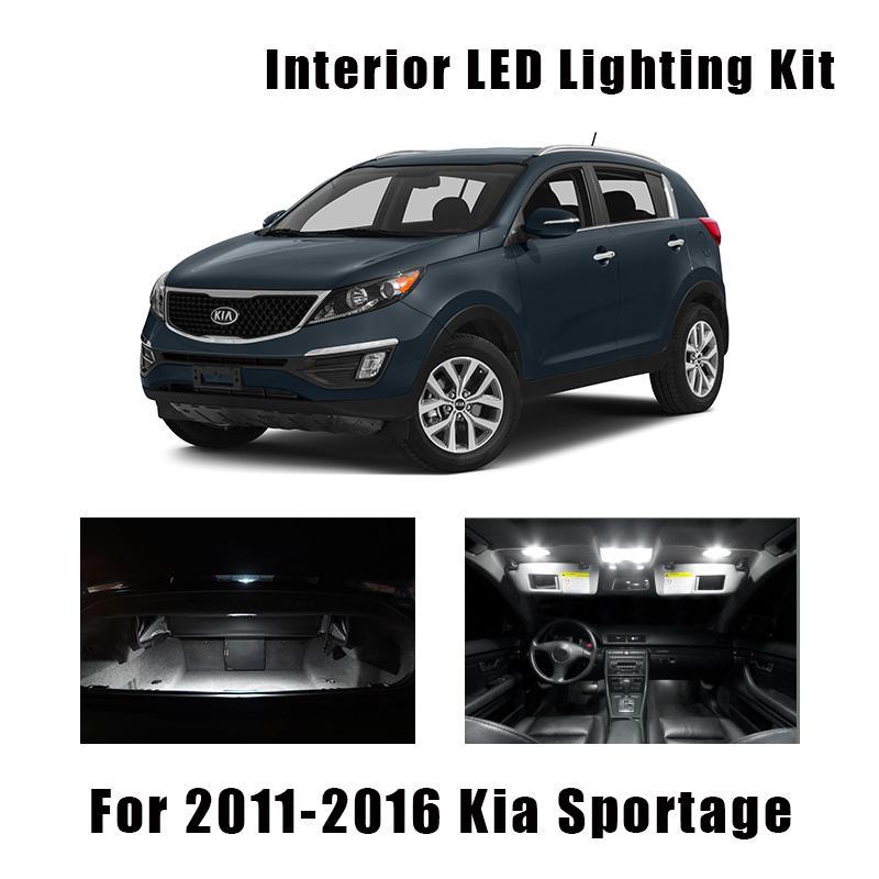 7 x White Interior LED Lights Package Kit For 2011-2014 2015 2016 Kia Sportage