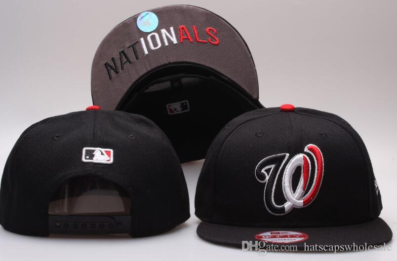 Hotsale Sport Nationals Baseball 47' Design Hats with Star Brim Brands summer Out Door Snapback Hats with Plastic snapback closure For Sale