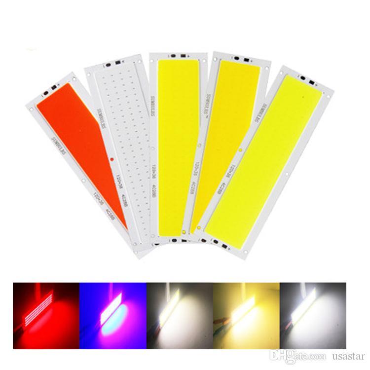 Ultra Bright 10W COB LED Light Strip 12V DC for DIY Car Lights Work Lamps Home Bulbs 120*36MM COB Chip