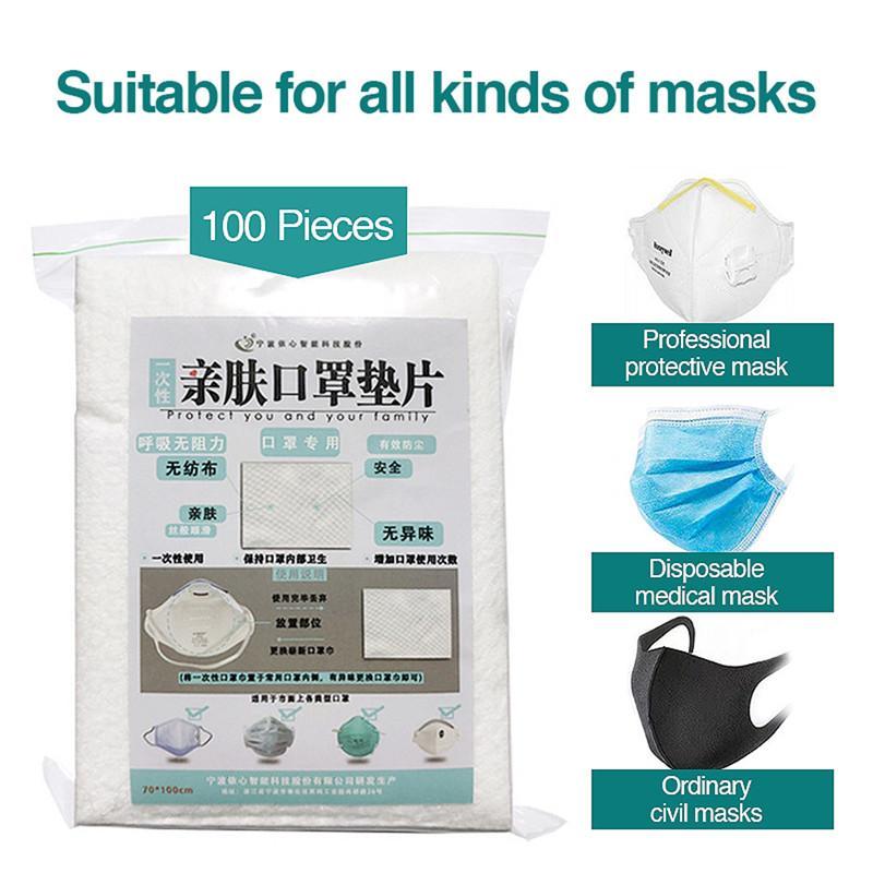 100pcs التي يمكن التخلص منها الوجه أقنعة استبدال تصفية الوسادة تنفس قناع طوقا تتنفس حصيرة لجميع أنواع أقنعة واقية ومعدات