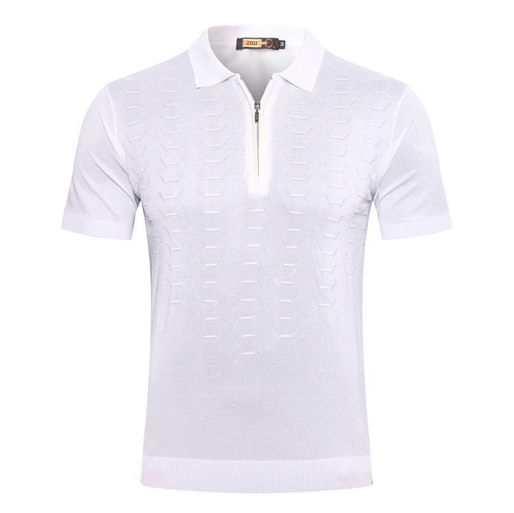 2020 Männer Frühling und Sommer der neuen Baumwoll Comfort beiläufige Trend Print Schwarz und Weiß Kurzarm T-Shirt Top