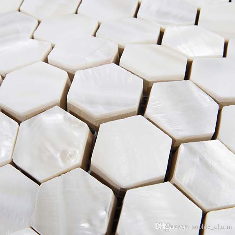 Hexagon Mother of pearl tiles white mother of pearl kitchen backsplash bathroom tiles MOP135 shell tiles