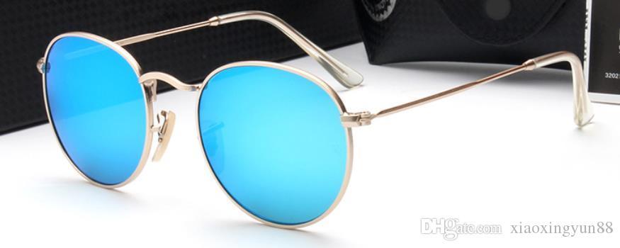 1pcs Brand Designer Green lens Sunglasses Classic Pilot Sun glasses gold frame for Men Women glasses UV400 56mm lens come black box