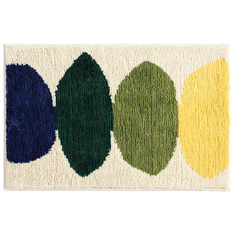 Flocking bedroom living room carpet floor mats simple household kitchen bathroom door heat absorbent-slip mats, 100x150cm