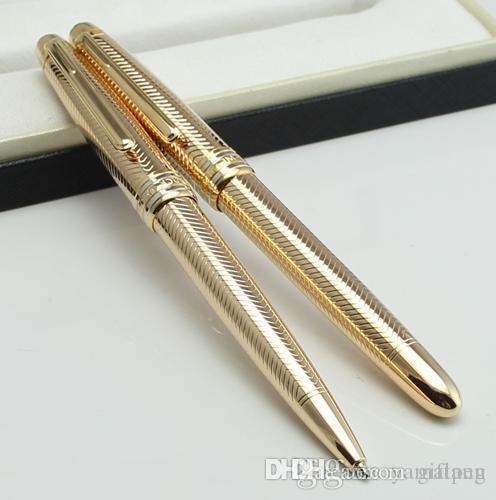 Luxe MT # 163 Meistprice or Stylo roller Stylo plume avec des fournitures de bureau école papeterie écriture de @yamalang de cadeaux stylo à bille