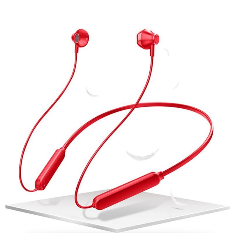 سماعات بلوتوث اللاسلكية الرياضة بلوتوث 5.0 ستيريو الثقيلة باس في الأذن سماعة مركبتي شنقا الأذن يدوي مع ميكروفون الرقبة سماعات الأذن