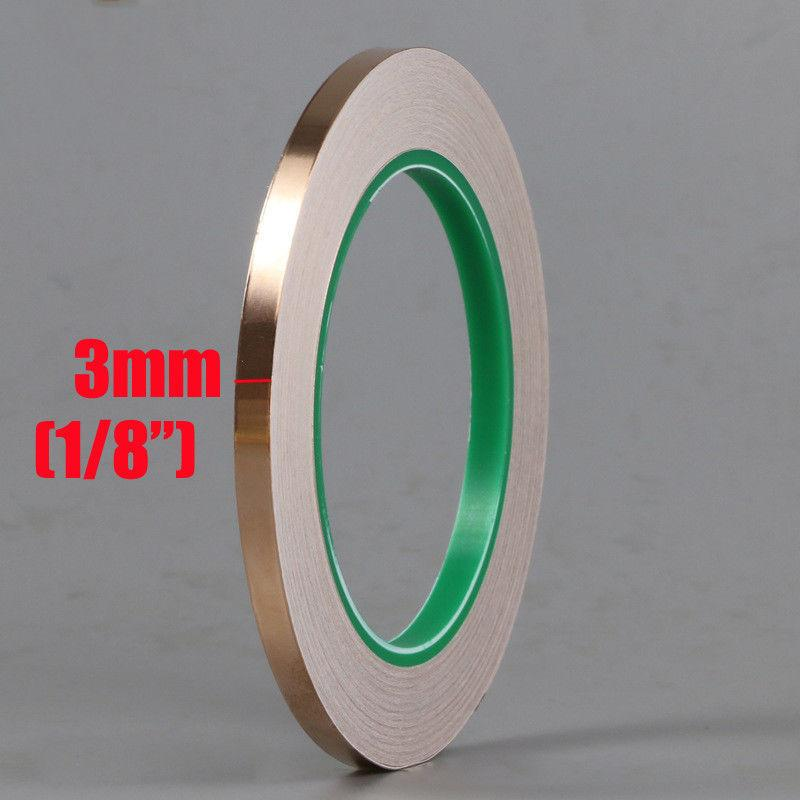 2X 23feet//20M Conductive Shielding Pure Copper Tapes 3mm 1//8/""