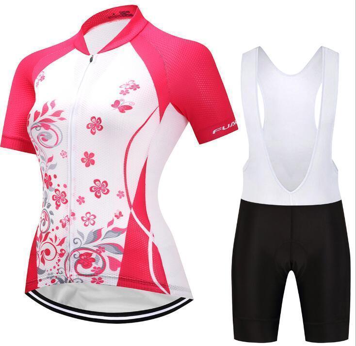2020 Цветок лето Женщины MTB велосипед Велоспорт одежда дышащий Mountian одежду Велосипед Ропа Ciclismo Быстрый -dry Наборы задействуя Джерси