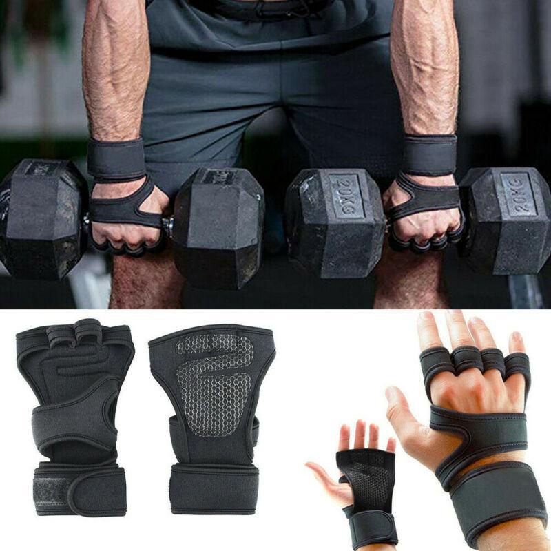 Gants Professional Gym Fitness main Palm Protector avec poignet Wrap soutien Croix en forme séance d'entraînement de culturisme Puissance Haltérophilie