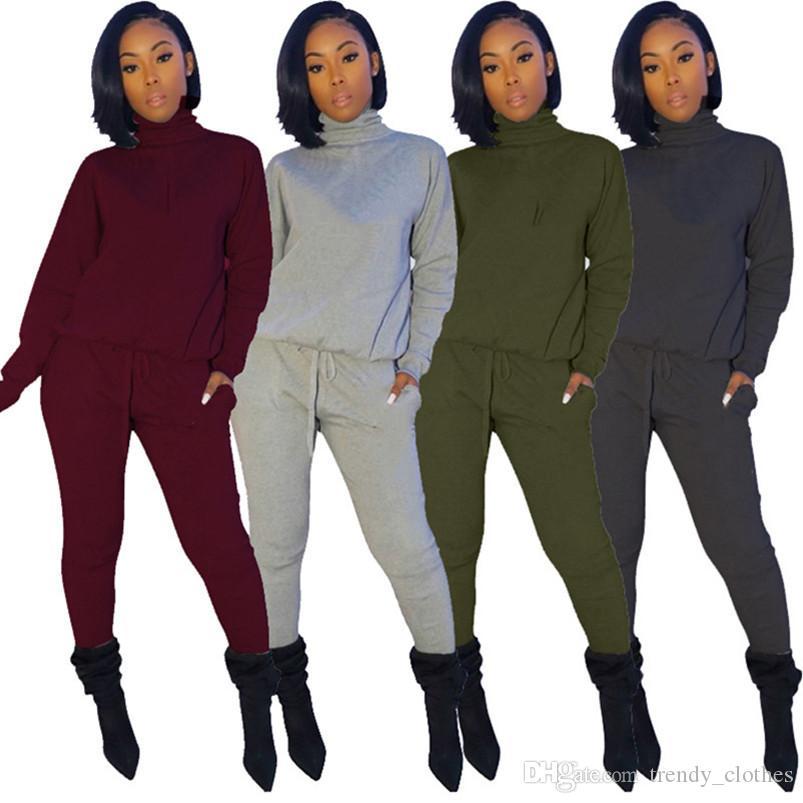 Женщины спорт осень зима повседневная одежда Sweatsuit капюшон костюм брюки бегун костюм пальто рубашка 2 шт наборы пуловеры нарядов капри продают 2259