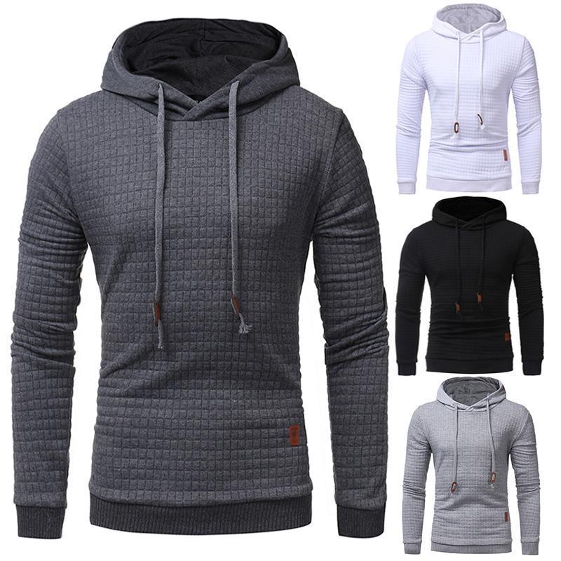 Mode-Männer Kapuzenanzug Marke Männer Hoodies Sport Male Hip Hop Solid Color Kapuzen-Sweatshirt Sweat Mantel Lässige Kleidung Trend
