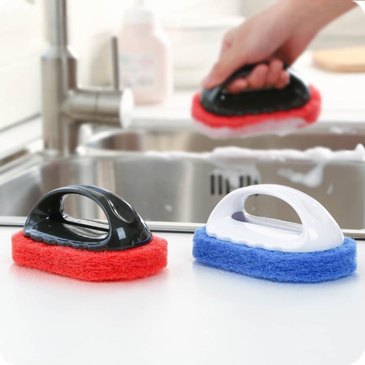 1164 Brute Force Decontamination Sponge Hard Bottom Clean Brush Cooking Bench Shower Room Bathtub Brush Floor Wipe Tile Wipe