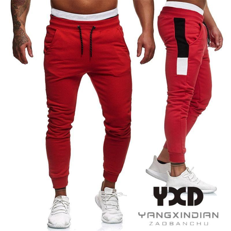 Neuer Hip Hop-Harem-Hosen-Mann-Baumwoll Jogger Pant 2020-Sport-Hose-Männer Fitness Pantalon mit Taschen Man Mode Jogginghose