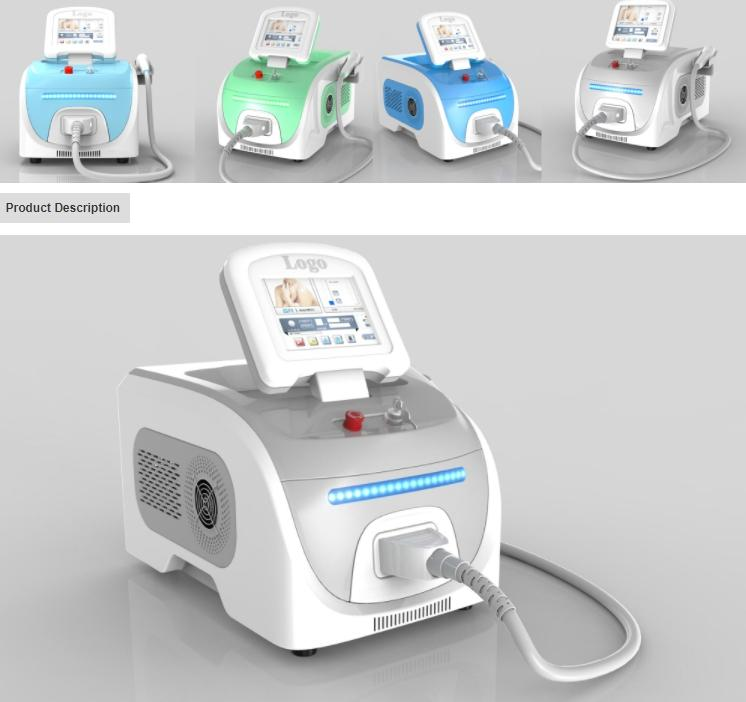 Hot Selling Portable 808nm Diode Laser Hair Removal Machine
