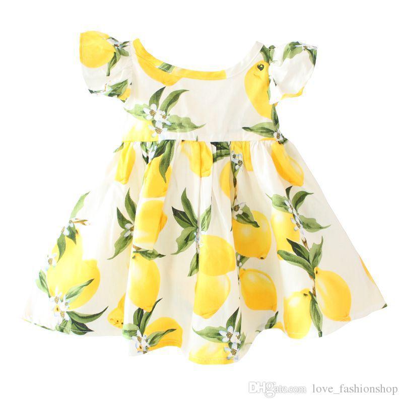 Detaljhandel bebis flickor blommig klänning barn tillbaka ihålig suspender blomma tryckt hög midja prinsessa klänningar billiga bomull dancewear klänning kläder