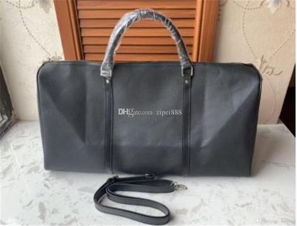 الأزياء 55CM سعة كبيرة حقائب النساء السفر الشهيرة الكلاسيكية أكياس القماش الخشن جودة عالية للرجال الكتف تحمل الأمتعة
