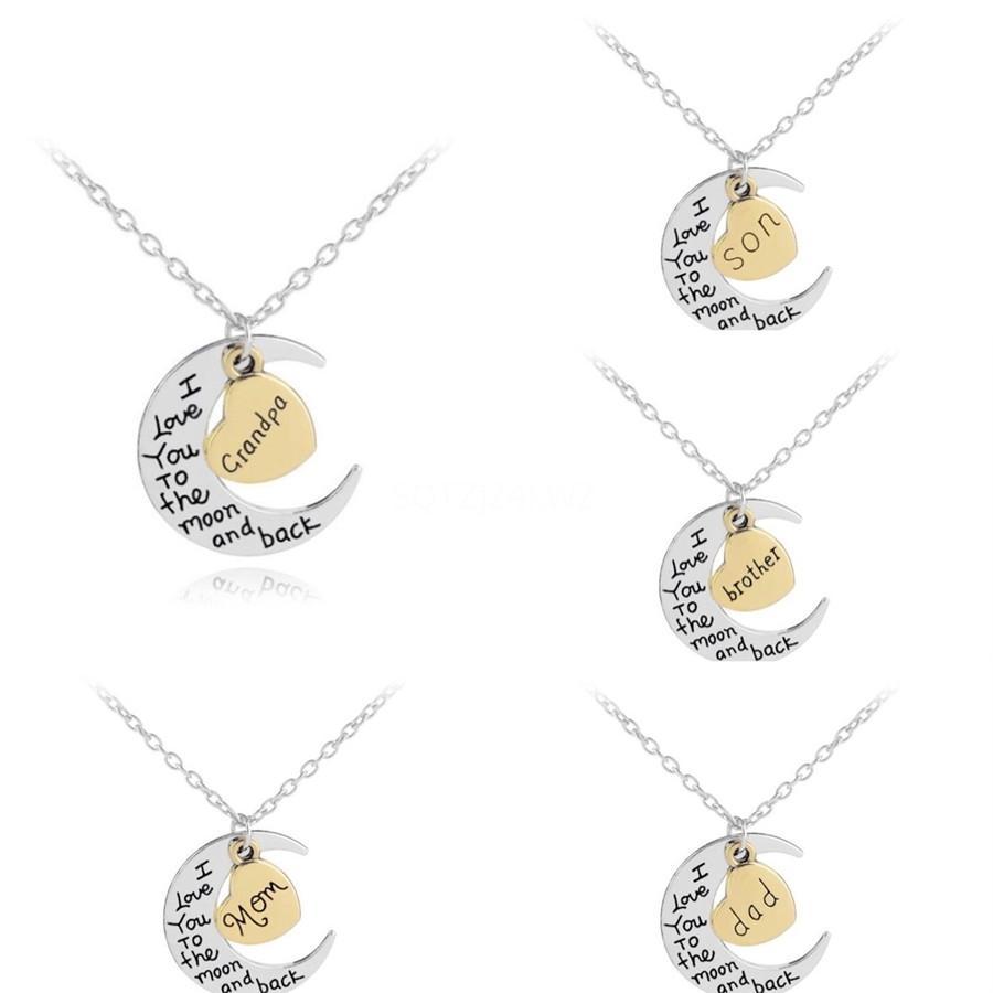 Сбоку персонализированный письмо Имя Ожерелье Initial Золото Серебро покрыло нержавеющей стали ожерелье для женщин Лучший подарок Gb1530 # 879