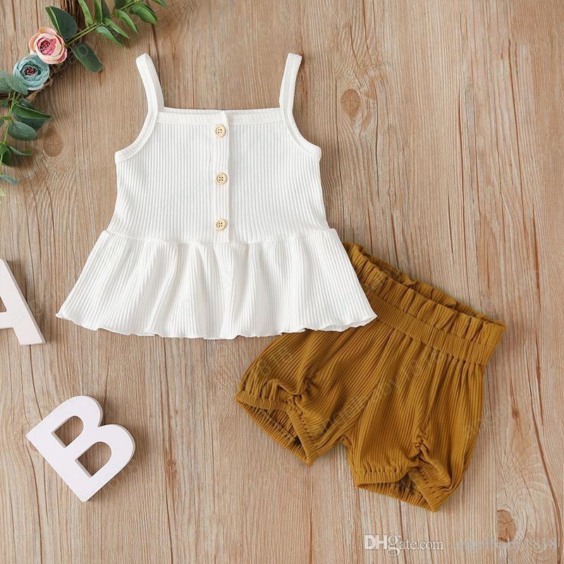 ملابس (جيلرز) ، قمصان القماش ، ملابس السراويل ، ملابس صلبة اللون ، صيف عام 2020 الأطفال ، بوتيك ملابس الفتيات الصغيرات ، سروال (ليتل توبس) ، 2 بي سي ، مجموعة