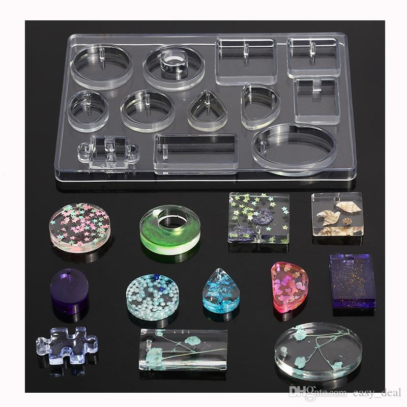 Pendentif moule en silicone bricolage Craft Colliers Facettes Teardrop Fabrication de bijoux moule handmake outil Pendentif cadeau yq00908