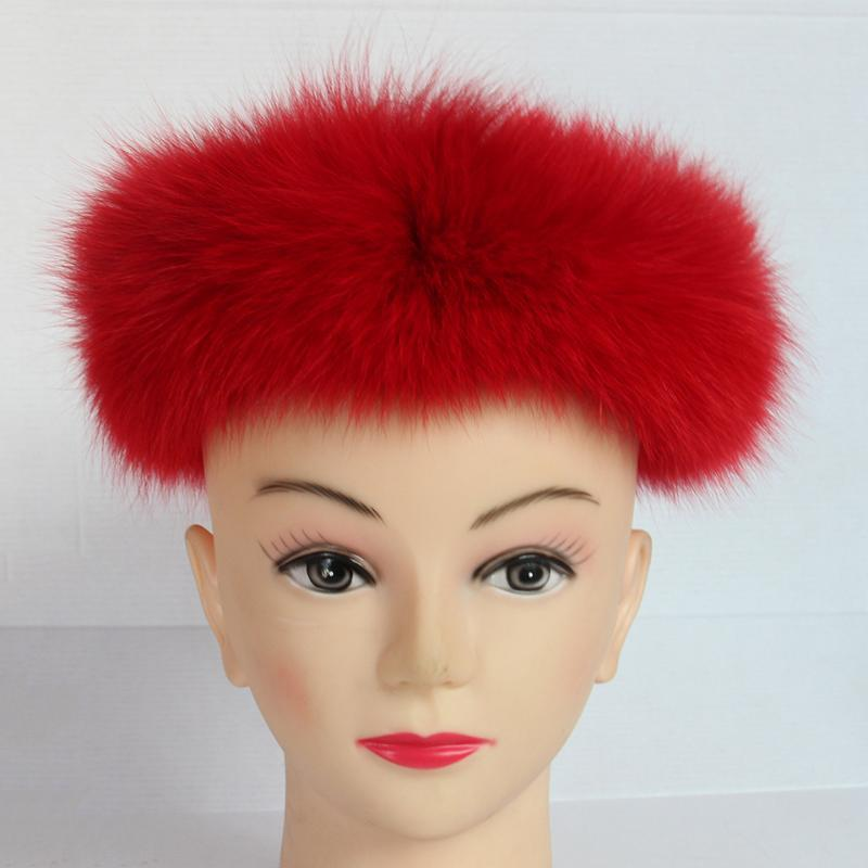 Children Fashion Real Solid Fur headband Winter Earwarmer Hat Headwear Women Baby Customized Size Adjsutable W#01