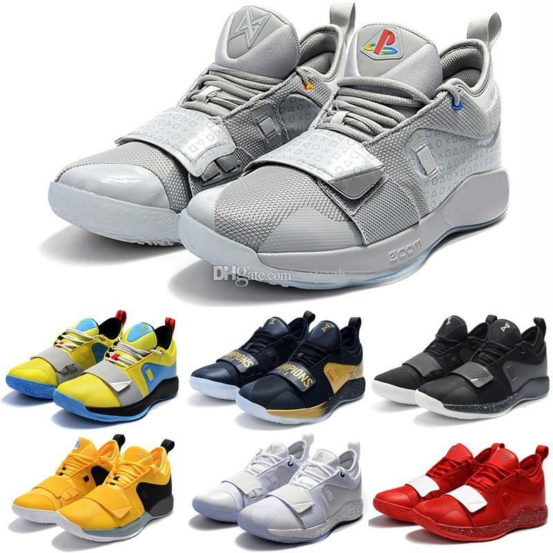 Лучшего качество Paul George 2.5 Whtie Черных ботинки красных Открытый баскетбол Спортивной Mens PG 2.5 Тренеров тапки Chaussures