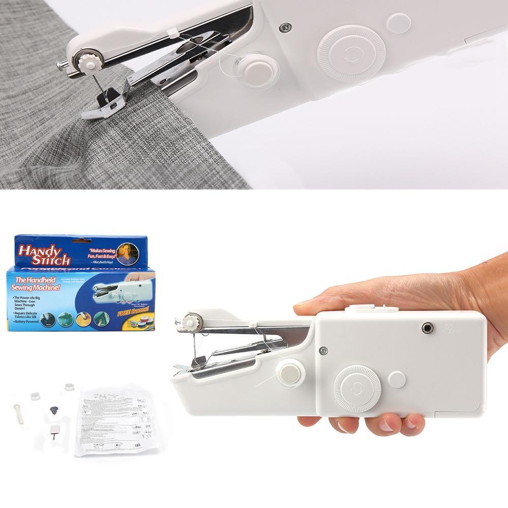Manual de Mini Máquina de coser Handheld mini portátil práctica del hogar de costura rápida de Mano sola puntada hecha a mano Herramienta de bricolaje MMA2947-8