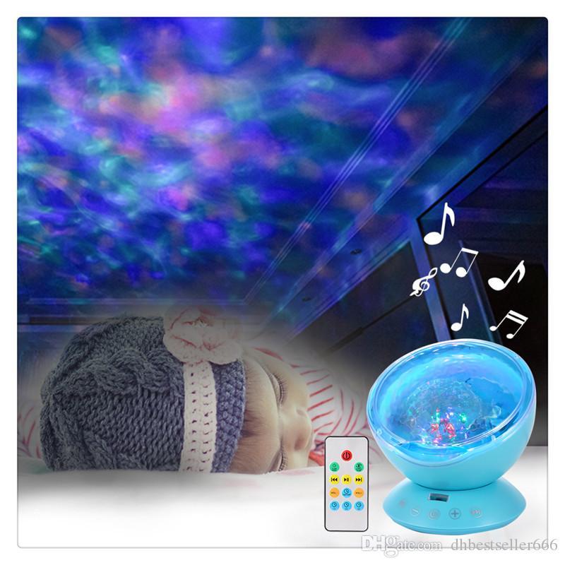 Ocean Wave Music Mini Projetor LED Night Light Luzes Coloridas Criar um ambiente romântico relaxante e delicioso