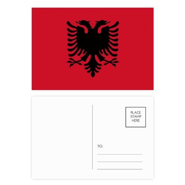 Албания национальный флаг Европа страна открытка набор день рождения спасибо открытка Почтовая сторона 20шт