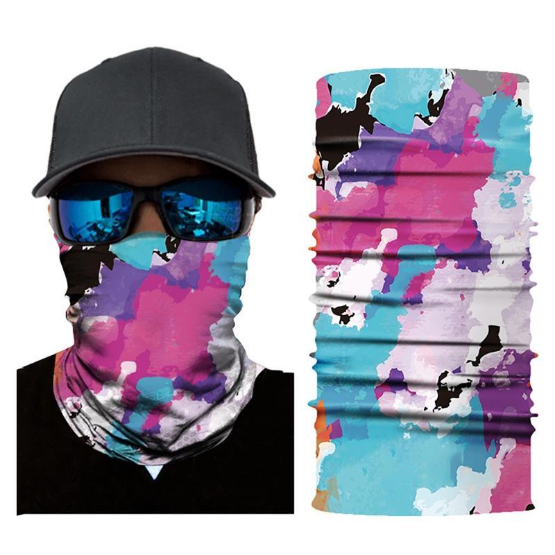 Bysork Caps Caps Masks Женщины Мужчины Флаг Цифровые Печатные Многофункциональные Бесшовные Краткое Сухое Солнцезащитное Оголовочное Оголовочное Шарф для OU