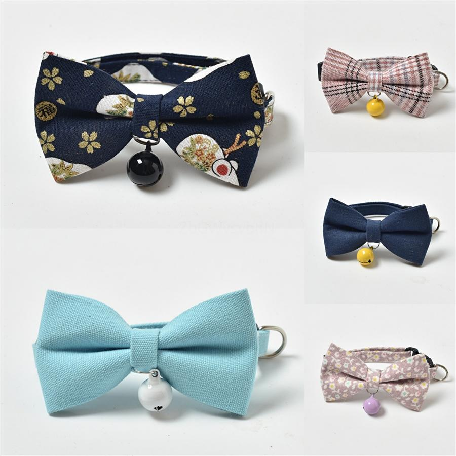Pets Adjustable Christmas Bow Bell Bowknot Collar Pets Tie Fashion Ties Pets Collars Pet Dogs Cats Holiday Articles Pet Accessories Pet S #79